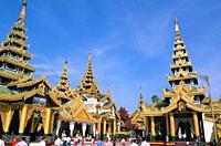 Shwe Dagon Pagoda Shwedagon Paya, Yangon Rangoon, Myanmar Burma, Asia