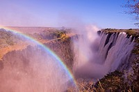 Victoria Falls, UNESCO World Heritage Site, Zambesi River, Zambia, Africa