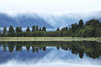 Lake Matheson, Westland Tai Poutini National Park, UNESCO World Heritage Site, West Coast, South Island, New Zealand, Pacific
