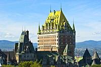 Fairmont Le Chateau Frontenac Hotel, Quebec City, Quebec, Canada, North America