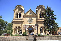 St. Francis Cathedral, Santa Fe, New Mexico, United States of America, North America