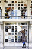 Columbarium, Pere Lachaise Cemetery, Paris, France, Europe