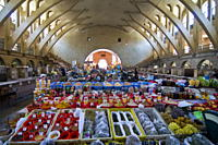 The covered bazaar of Yerevan, Armenia, Caucasus, Central Asia, Asia