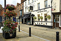 England, North Yorkshire, Ripon. The Royal Oak Dining Pub & Rooms in Kirkgate.