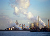 Emissions from a Corus steel plant at Redcar on Teeside, UK