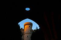 Fort Palace of the Grand Masters, Collachum, Rhodes Town, Rhodes Island, Dodecaneso, Greece, Mediterranean Sea.
