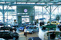 Car, Car dealer, VW Volkswagen, approx. purchase, Autohändler, new cars, Exhibition room