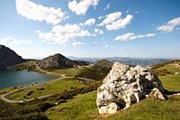 Spain, Asturias, Lagos de Enos and Ercino, Lake Enos