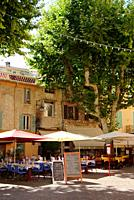 France, Vence, Place Clemenceau, View of pavement cafe