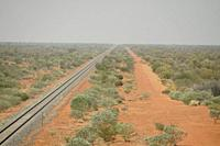 Australia, The Ghan railway passes through some lonely stretches of the outback