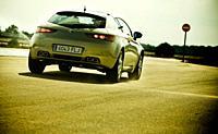 Emergency braking before entering the wrong way lane. Car: Alfa Romeo Brera