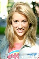 Attractive young blonde in casual wear in the street
