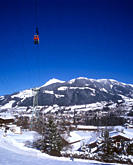 View over the popular ski resort of Kitzbuhel showing the Hahnenkamm cable_car