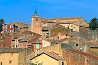 City skyline Roussillon, Provence, France
