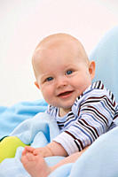 Baby boy 6_11 months smiling, portrait