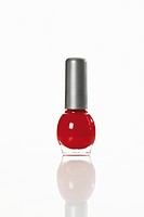 Bottle of red nail varnish (thumbnail)