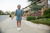 Young girl with skipping rope
