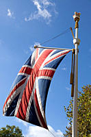 British flag, London