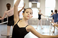 Girl in ballet class