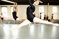 Ballerinas jumping