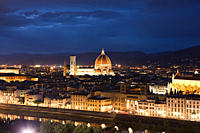 Night cityscape with Santa Maria del Fiore, Florence, Italy