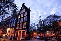 Buildings in Singel area, Amsterdam, Northern Holland, Holland