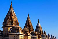 Spires of the Chhatris, Orchha, Madhya Pradesh, India