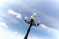 Germany, Hamburg, Lantern against sky