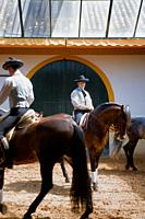 Riders of Royal Andalusian School of Equestrian Art  `Real Escuela Andaluza Del Arte Ecuestre´  Jerez de la Frontera  Cádiz province, Andalusia, Spain