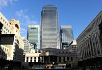 Cabot Place at Canary Wharf Docklands London