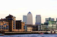 Cityscape and Canary Wharf London