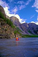 Canoeing _ Nahanni River, Nahanni National Park, NWT. Canada.