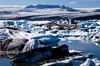 Joekulsarlon Glacial Lagoon, Vatnajoekull National Park, Iceland
