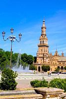 Plaza de España in Maria Luisa Park, Seville, Andalusia, Spain
