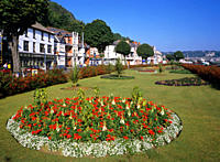 Gardens on the seafront of Mumbles a seaside resort on Swansea Bay