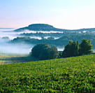 Valleys, in, morning, haze, in, September, Pfinztal, Baden_Wurttemberg, Germany