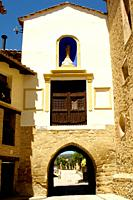 Portal del Carmen, Rubielos de Mora, Teruel, Aragon, Spain