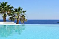 Mykonos  Greece  Infinity pool at Hotel Mykonos Blu, Psarou Beach