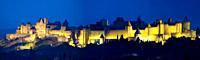 La Cité, Carcassonne medieval fortified town  Aude, Languedoc-Roussillon, France