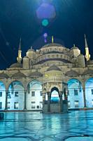 Turkey, Istanbul, Sultan Ahmet Camii, Blue Mosque, Illuminated, Night
