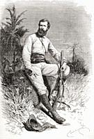 Verney Lovett Cameron, 1844 to 1894  English explorer in Central Africa  From El Mundo en la Mano, published 1878