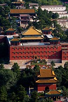 High angle scene of Temple of the Potaraka Doctrine,Chengde