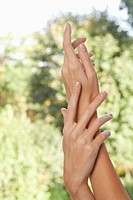 Close_up of woman's hands
