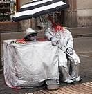 Living Statue, Barcelona, Spain
