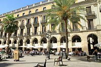 Plaza Real ,Barcelona, Catalonia, Spain