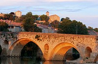 Old Bridge, Beziers, Herault, Languedoc-Roussillon, France