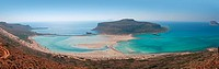 Balos beach Crete panoramic photo