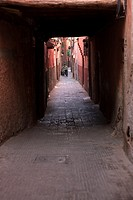 Street in the souk, Medina. Marrakesh, Morocco, North Africa