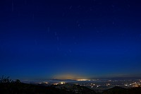 Star trails Over Santa Clara valley.