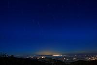 Star trails Over Santa Clara valley.